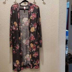 XL Floral Duster Cardigan
